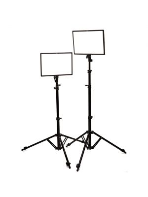 LEDGO LUXPAD E268C twin LED light kit with batteries and light stands